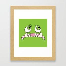 Little Green Monster Framed Art Print