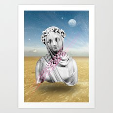 Desert Sculpture Art Print