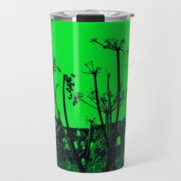 Whitby Abbey in Green Travel Mug