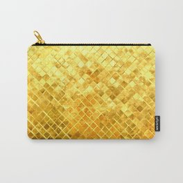 Give me Gold: festive, golden, fashionable, 3-d, glittery, Christmas, cheerful, lattice design Carry-All Pouch