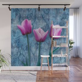 Pink tulips Wall Mural
