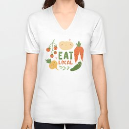 Cute vegetables Unisex V-Neck