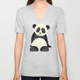 Whimsy Giant Panda Unisex V-Neck