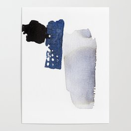 Navy Blue Abstract Poster