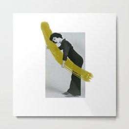 Mimes Make Art Series: Mime Playing Turf Green Brushstroke Metal Print