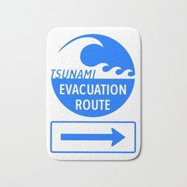 Tsunami Evacuation Route Bath Mat
