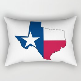 Texas Map Outline and Flag Rectangular Pillow