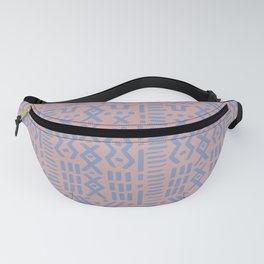 Mudcloth No. 1 in Blush + Dusty Blue Fanny Pack