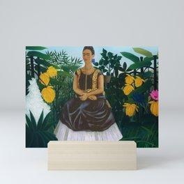 Casa Azul, Coyoacán, Mexico rainforest floral landscape painting Mini Art Print