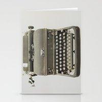 typewriter Stationery Cards featuring Typewriter by LUKE/MALLORY