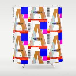 "Cocktail ""A"" - Alexander Shower Curtain"