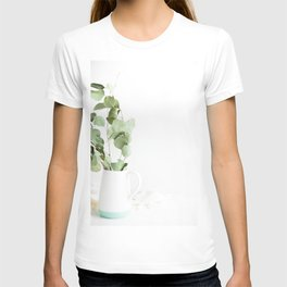 Green Leaves Minimalist Photography T-shirt