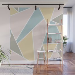 Pastel Geometric Lines  Wall Mural