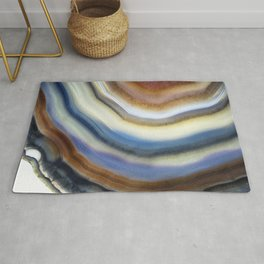 Colorful layered agate 2075 Rug