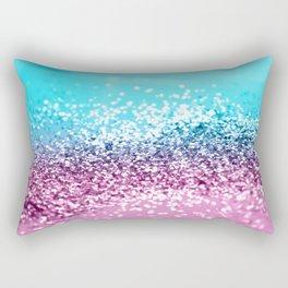 Tropical Beach Lady Glitter #2 #shiny #decor #art #society6 Rectangular Pillow