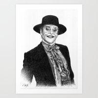 jack nicholson Art Prints featuring jack nicholson jocker by calibos