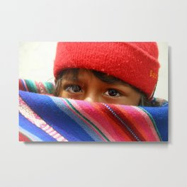 Child from Peru Metal Print