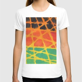 Colorful giraffe pattern T-shirt