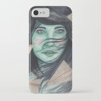planes iPhone & iPod Cases featuring Paper planes  by Pendientera