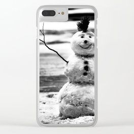 HERE FOR NOW Clear iPhone Case
