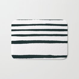 Abstract geometrical hand painted brushstrokes stripes Bath Mat