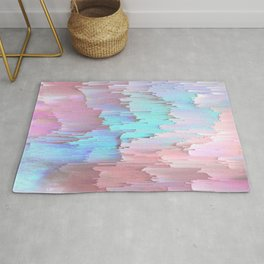 Pastel Glitches Fall Rug