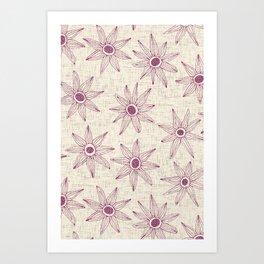 sema cream damson Art Print