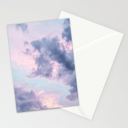 Pastel Purple Clouds Stationery Cards