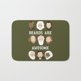 Beards Are Awesome Bath Mat