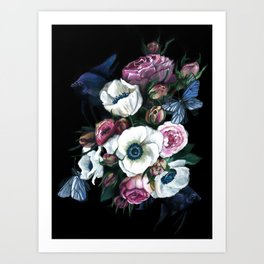 Bouquet Of Dreams Acrylic Painting Art Print