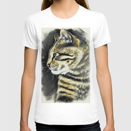 Arnie The Cat Woodblock Style T-shirt