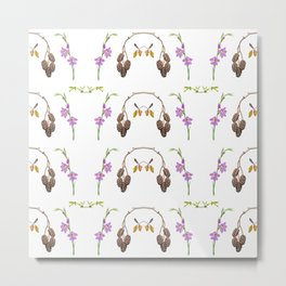 Pattern of forest fruits and flowers Metal Print