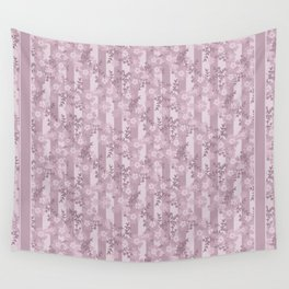 Floral pattern dusty rose . Wall Tapestry