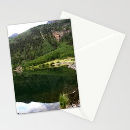 Row of Aspens on Crystal Lake Stationery Cards