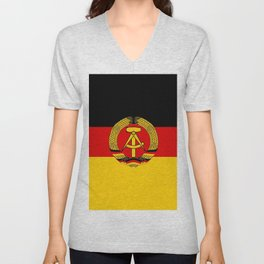 flag of RDA Or east Germany Unisex V-Neck