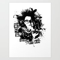 cosima Art Prints featuring Orphan Black - Welcome to the Trip by Annabelle Pickering