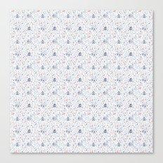 Stuga pattern, white Canvas Print
