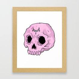 Witchy Skull Framed Art Print
