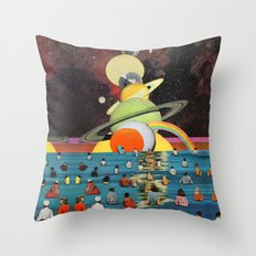 Children of the Sun and Moon Throw Pillow
