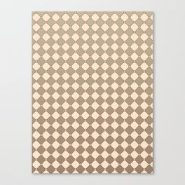Earthtone square grid pattern Canvas Print