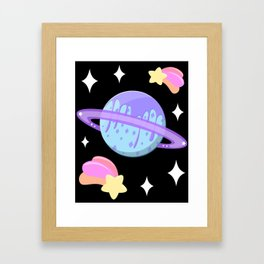 Melty Minty Planet Framed Art Print
