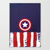 "steve rogers Canvas Prints featuring Captain ""Steve Rogers"" America by Some_Designs"