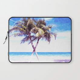 Palm Tree Beach Laptop Sleeve