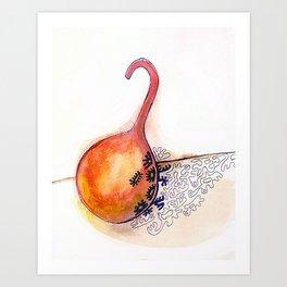 Hot sauce doodle watercolor Art Print