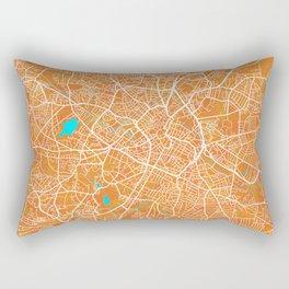 Birmingham, England, Gold, Blue, City, Map Rectangular Pillow
