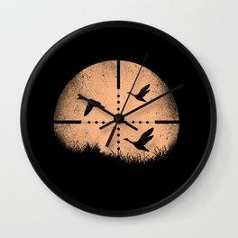Duck Hunting Wall Clock