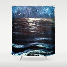 Beach Galaxy Shower Curtain