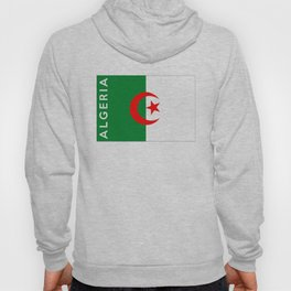 algeria country flag name text Hoody