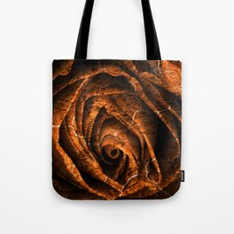 Burning Grunge Rose Tote Bag