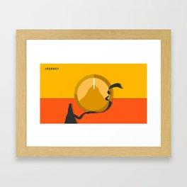 Journey - Game - Material Design Framed Art Print